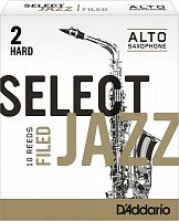 D`ADDARIO WOODWINDS RSF10ASX2H Select Jazz Filed Alto Saxophone Reeds, 2H, 10 BX